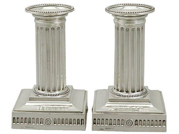 Corinthian Column Candlesticks