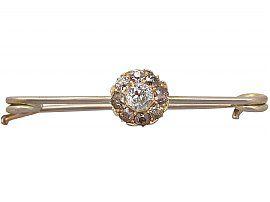 brown diamond brooch