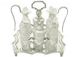 Cut Glass Cruet Set