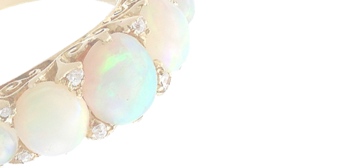 5 Stone Opal Ring