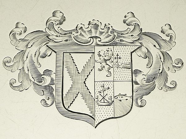 Silver coat of arms