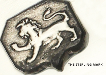 British Sterling Silver Passant