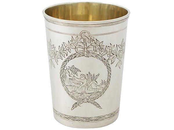 Russian Silver Beaker