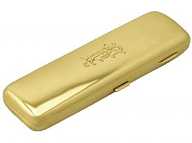 9ct gold cheroot case