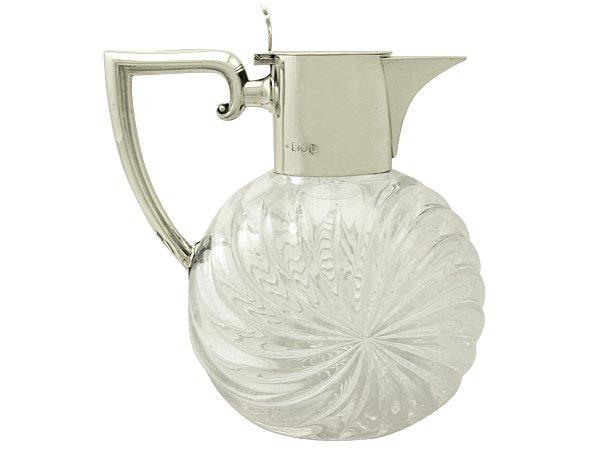 English Silver Claret Jug