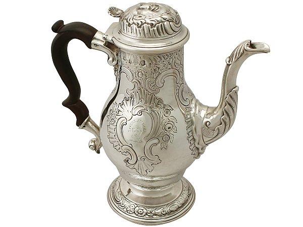 Georgian Sterling silver coffee pot