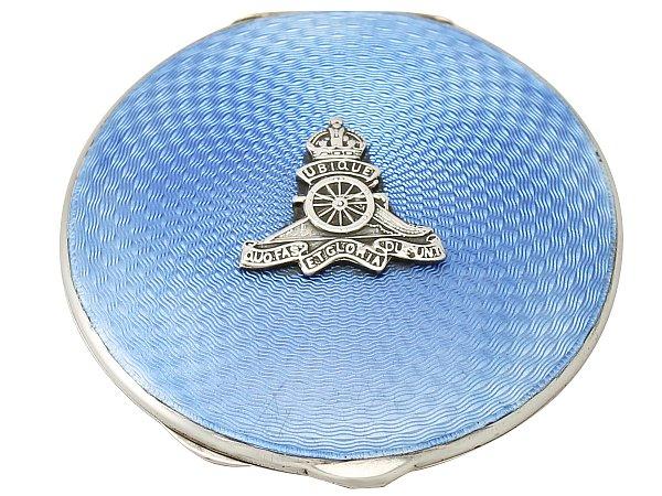 Silver Enamel Compact