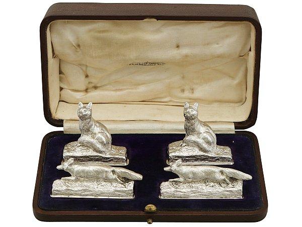 Silver Menu Holders