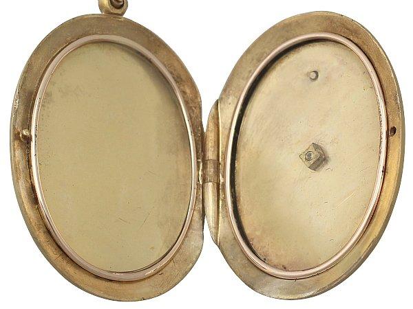 yellow gold locket