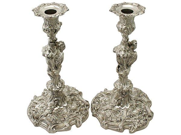 rococo candlesticks