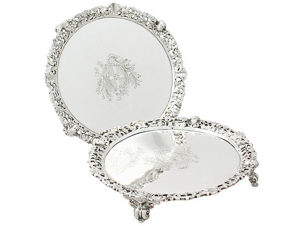 Silver Salvers for sale