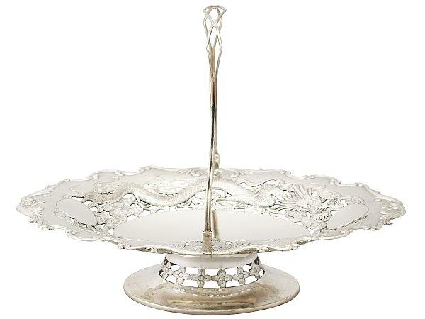Chinese Silver Cake Basket