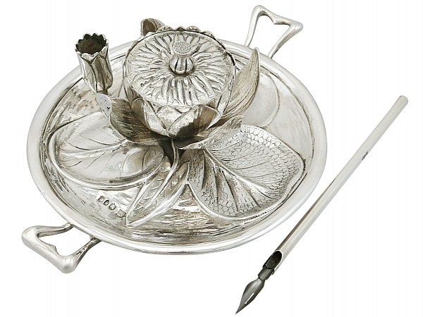 Sterling Silver Inkwell