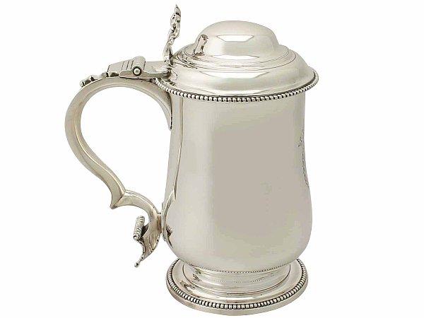 Antique silver tankard