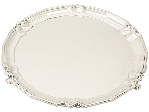 antique silver salver