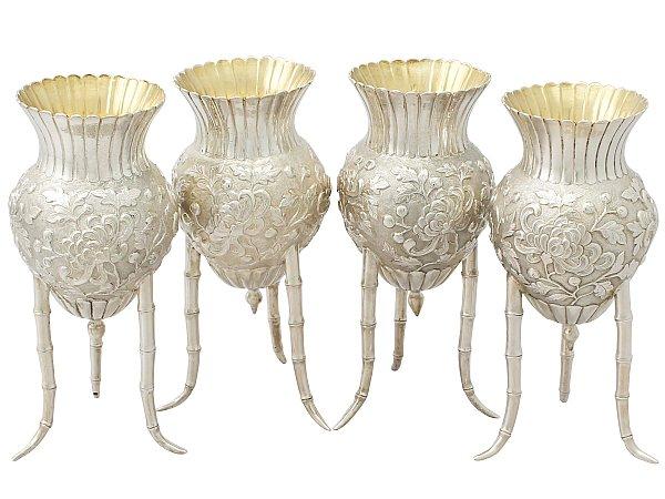 Japanese silver vase