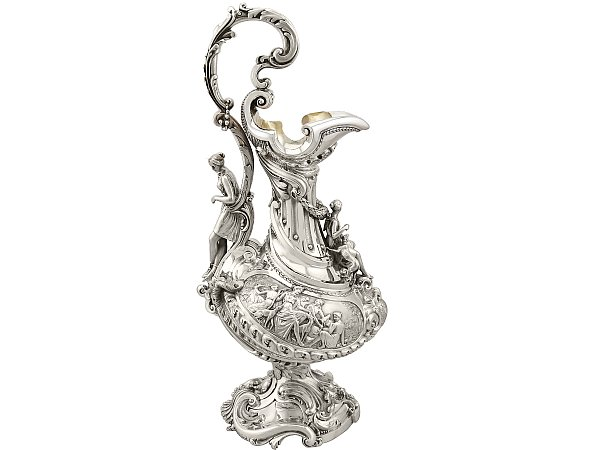 History of silver wine ewer