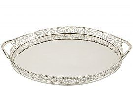 Sterling Silver Galleried Drinks Tray by Charles Stuart Harris - Antique Edwardian