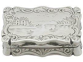 Sterling Silver Vinaigrette - Antique Victorian (1853)