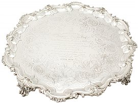 Sterling Silver Salver - Antique Victorian (1842)