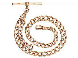 9 ct Rose Gold Albert Watch Chain - Antique Circa 1900