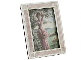 Sterling Silver and Enamel Photograph Frame - Antique Edwardian