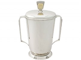 Sterling Silver Presentation Cup and Cover - Art Deco - Antique George VI
