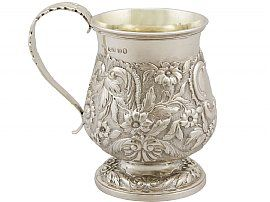 Sterling Silver Christening Mug - Antique George IV (1828)