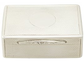 Sterling Silver Table Snuff Box - Antique Victorian (1875)