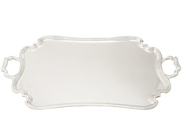 Best Sterling Silver Tray with Handles | Antique Silver Trays for Sale  OM24