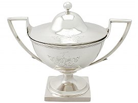 Sterling Silver Tureen - Antique George III