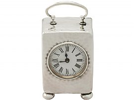 Sterling Silver Boudoir Clock - Antique Victorian (1898)