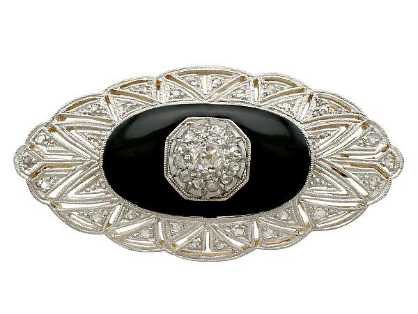 d4b170f72 Onyx Brooch with Diamonds for Sale | AC Silver