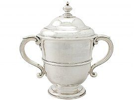 Britannia Standard Silver Cup and Cover - Antique William III
