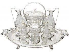 Sterling Silver and Cut Glass Cruet Service by Paul Storr - Antique George III