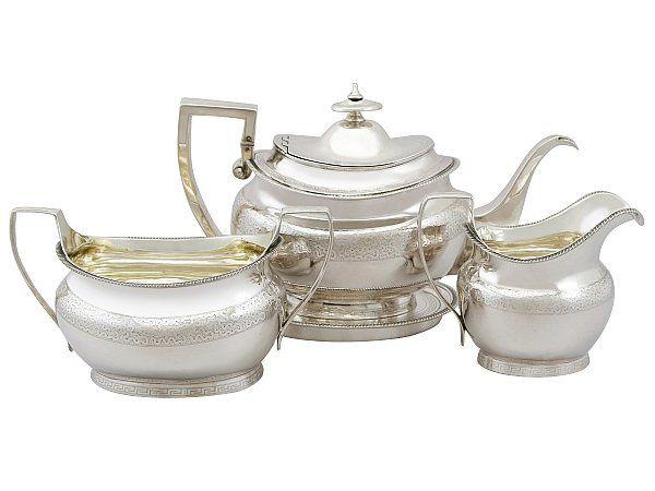georgian silver tea set