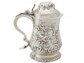 Sterling Silver Quart Tankard by William Grundy - Antique Georgian