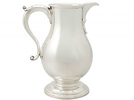 American Sterling Silver Beer/Water Jug - George I Style - Antique Circa 1920
