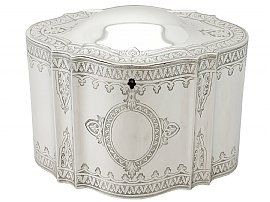 Sterling Silver Locking Tea Caddy - Antique Victorian
