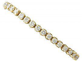 8.50 ct Diamond, 18 ct Yellow Gold Tennis Bracelet - Contemporary Italian Circa 2000