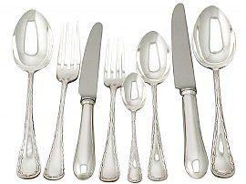 Sterling Silver Canteen of Cutlery for Ten Persons - Antique Edwardian (1907)