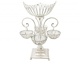 Sterling Silver Centrepiece - Antique Edwardian