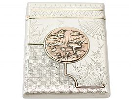 Sterling Silver Card Case - Aesthetic Style - Antique Victorian