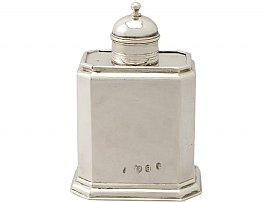 Britannia Standard Silver Tea Caddy - Antique George I (1717)