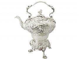 Sterling Silver Spirit Kettle by John Samuel Hunt - Antique Victorian (1854)