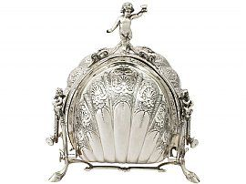 Italian Sterling Silver Triple Opening Biscuit Box - Contemporary Circa 2005