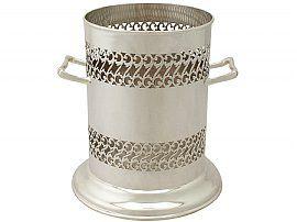 Sterling Silver Bottle Coaster - Antique George V (1931)