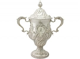 Sterling Silver Presentation Cup and Cover - Antique Georgian (1769)