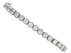 10.01 ct Diamond and 18 ct White Gold Tennis Bracelet - Contemporary Circa 2000