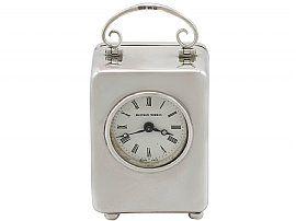 Sterling Silver Miniature Boudoir Clock - Vintage (1982)